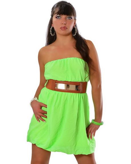 Bandeau kleid grün