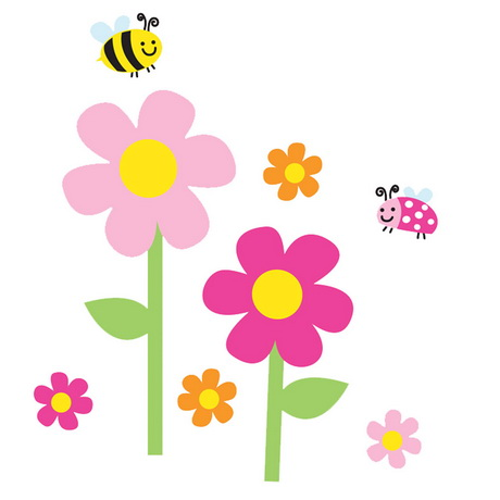 Blumen kinder for Kinder wandsticker