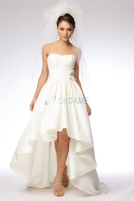 Brautkleid asymmetrisch