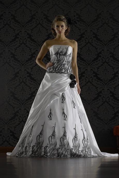 Brautkleid schwarz weiss