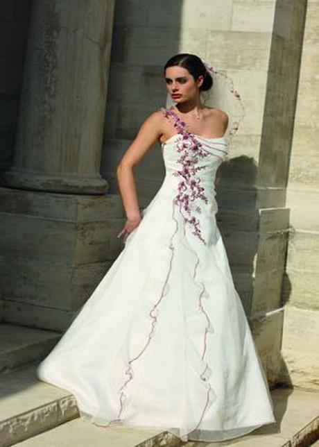 Brautkleider mit farbe