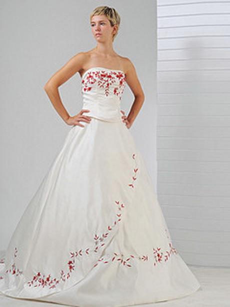 Brautkleider mit rot