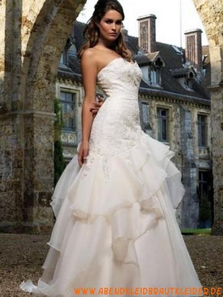 Taft Kapelle Schleppe Mit Applikation Trägerloser Brautkleider