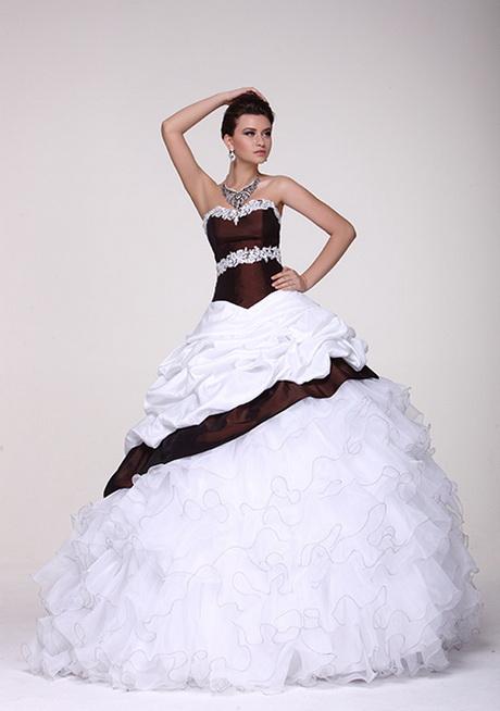 Herzausschnitt Hochzeit Brautkleid zweifarbig mit Spitze