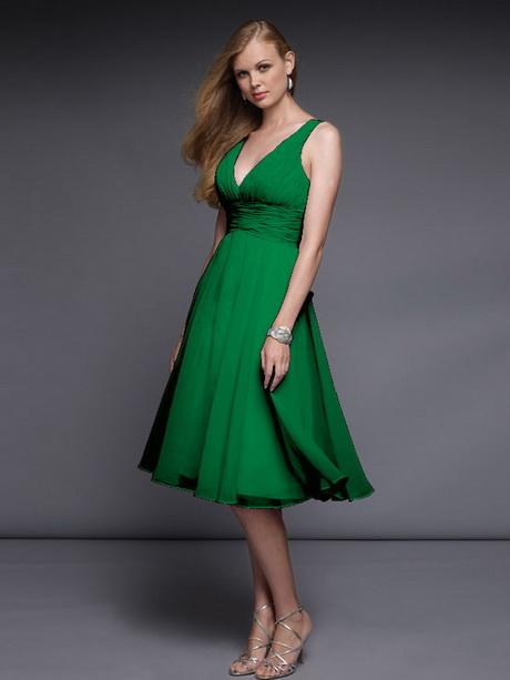 Chiffon kleid grün