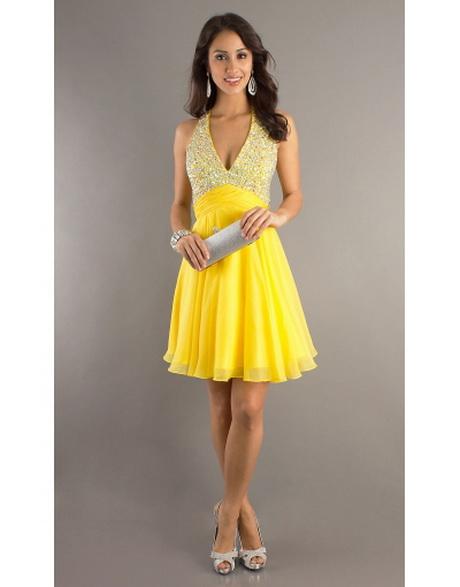 Atemberaubend Kurzes Gelbes Cocktail Kleid Ideen - Brautkleider ...