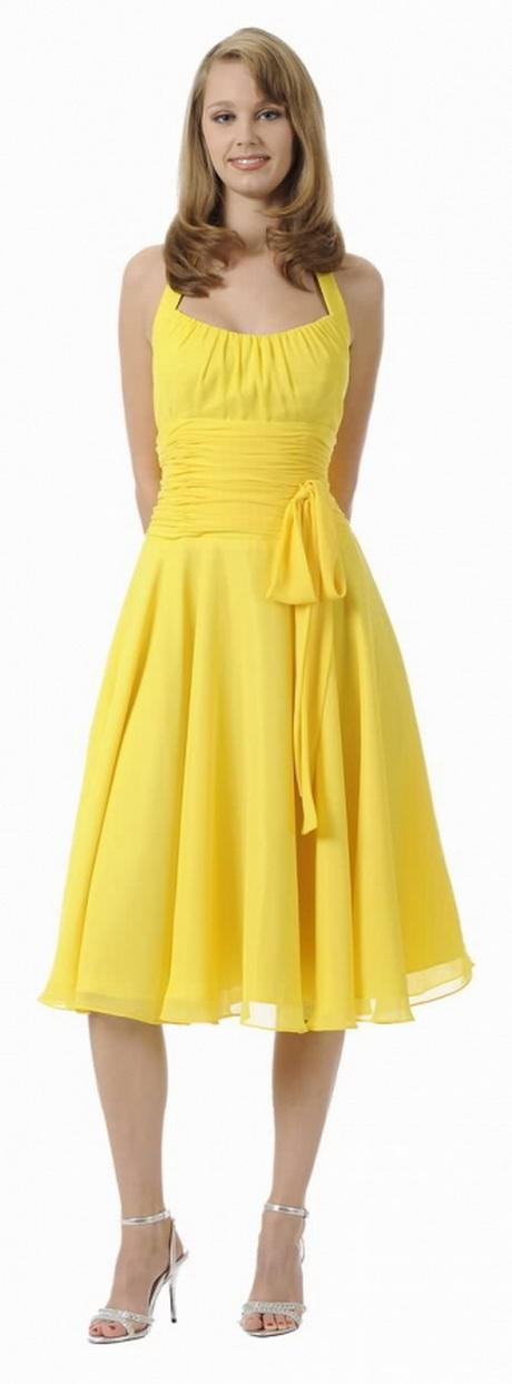Cocktailkleid gelb