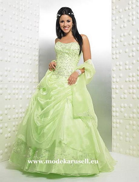 Grünes hochzeitskleid