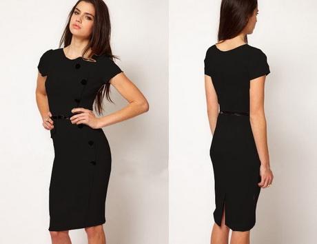 Kleid schwarz knielang