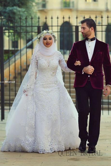 Muslimische brautkleider