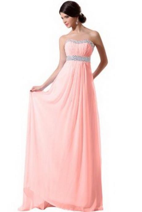 rosa abendkleid lang