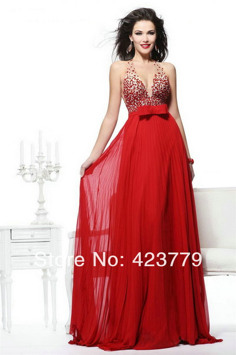 Rote lange kleider