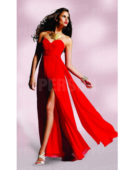 Rotes langes kleider