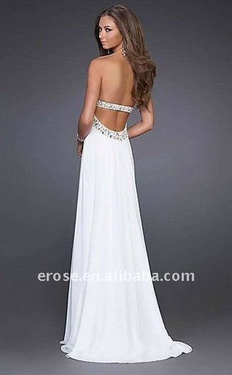 Weisses langes kleid