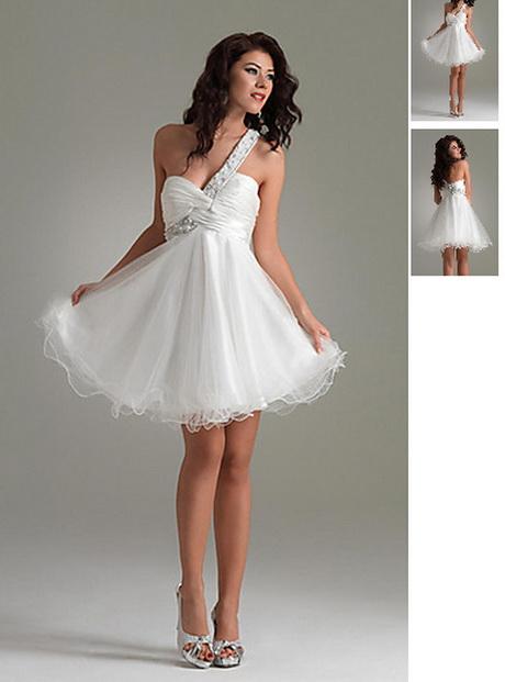 Abendkleider kurz weiß