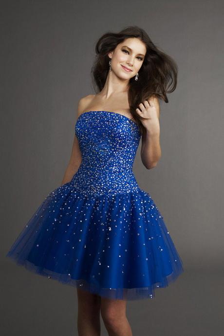 Blaues kurzes kleid