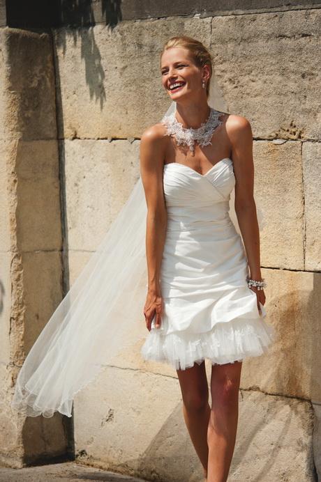 Hochzeitskleid kurz weiß
