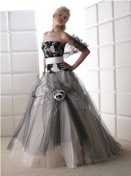 Schwarz Weiß Hochzeitskleid : hochzeitskleid schwarz weiss ~ Frokenaadalensverden.com Haus und Dekorationen