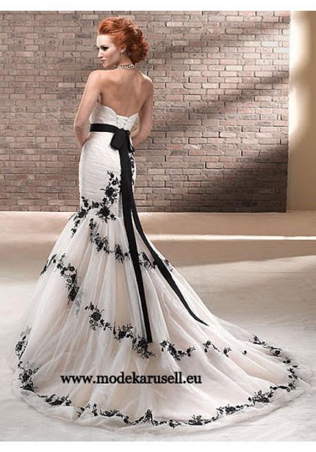 Hochzeitskleid weiß schwarz