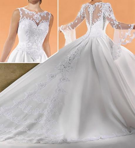 Romantisch Brautkleid schleppen Hochzeitskleid 32 34 36 38 40 42
