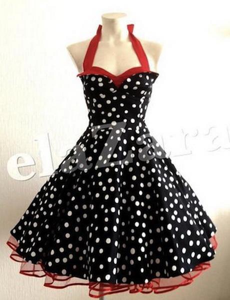 Kleid schwarz rot wei