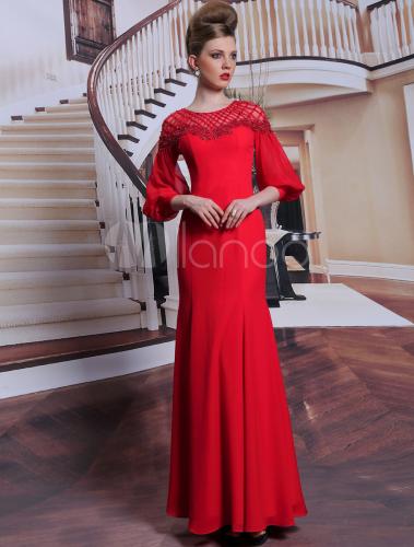 Elegante abendkleider mit langem arm