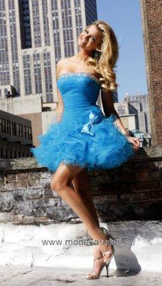 kleid hängerchen blau