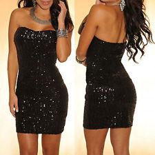 Abendkleider schwarz glitzer