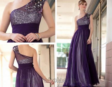 Lange kleider in lila – Stylischer Kleider