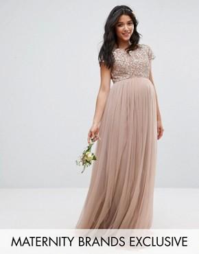 Langes kleid fur schwangere