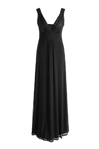 Damen kleider lang schwarz