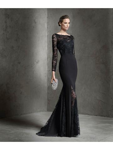 schwarze abend kleider