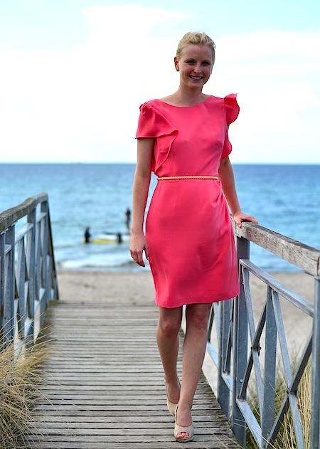 Kleid pink welche schuhe