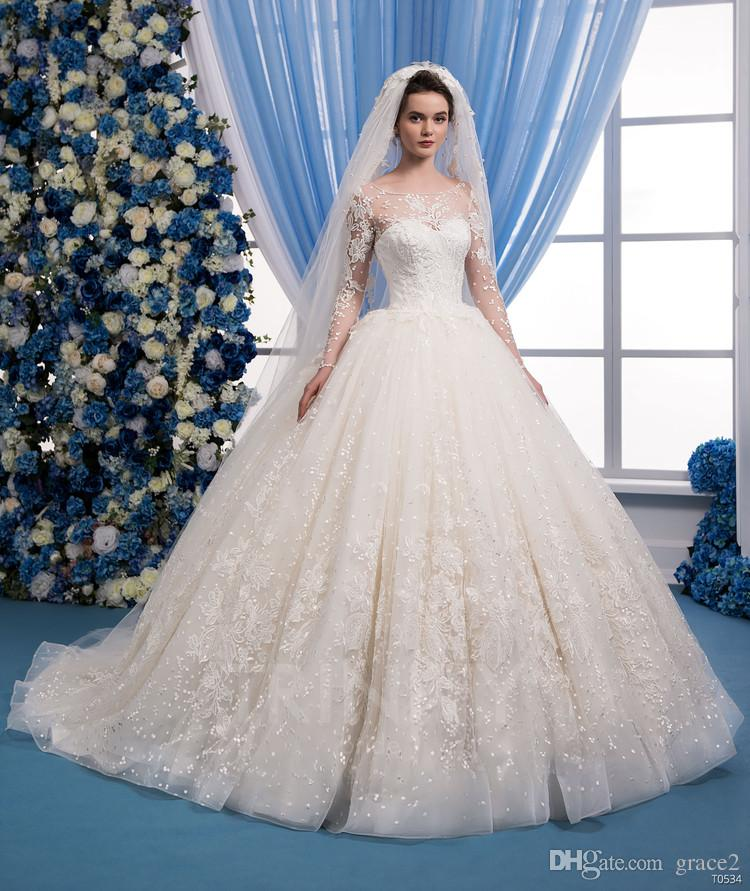 Cheap wedding dresses 2018 long sleeve