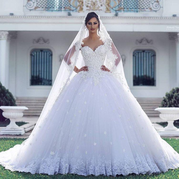 Ssyfashion Long Sleeve Wedding Dresses The Bride Elegant: Hochzeitsmode 2018