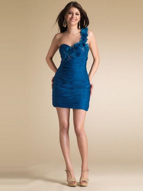 Abendkleid kurz blau