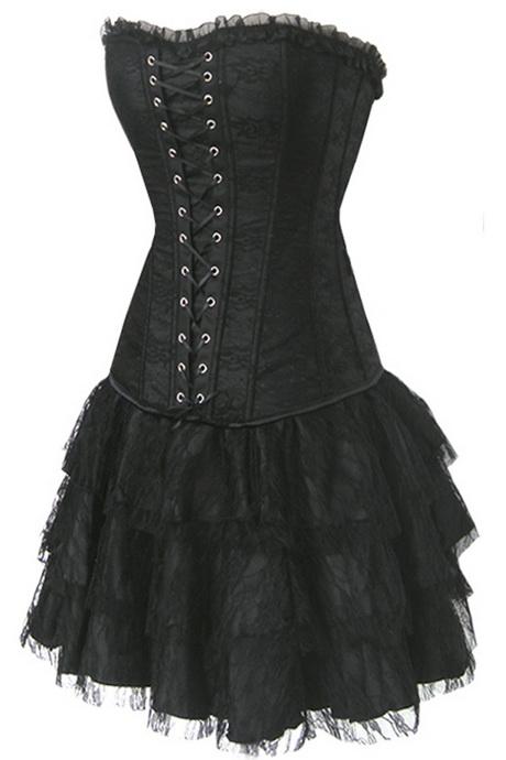gothic corsage kleider. Black Bedroom Furniture Sets. Home Design Ideas