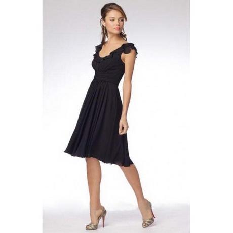 schwarzes kleid knielang