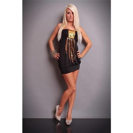 Schwarz und Gold sexy Kleid