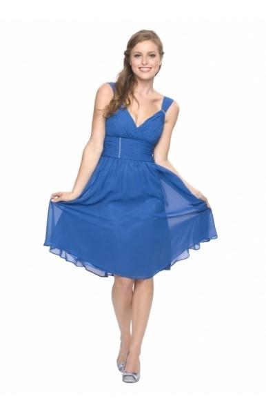 Blaue kleider knielang