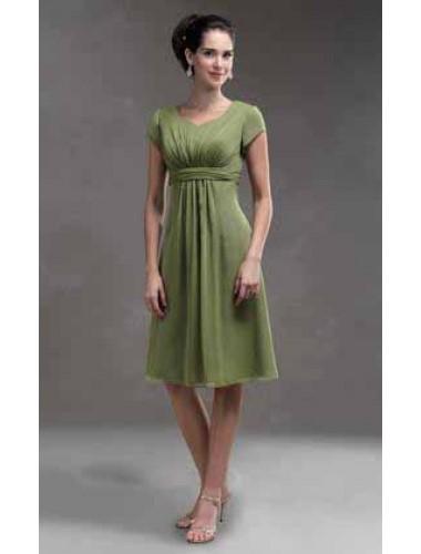 Grünes festliches kleid