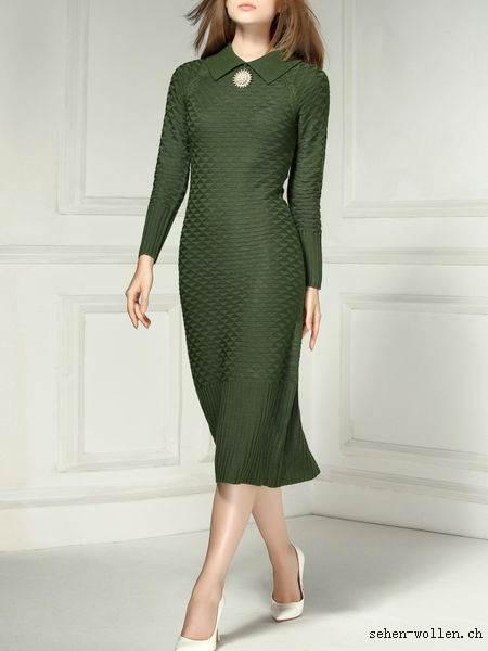 Kleid grün langarm