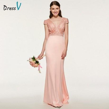 Brautjungfer kleid rosa