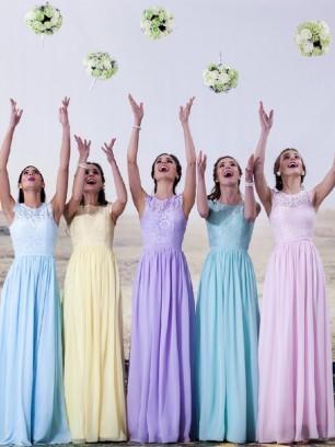 Brautjungfernkleider lila flieder
