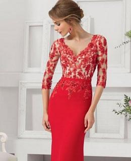 Abendkleid rot knielang