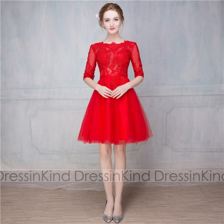 Cocktailkleid rot knielang
