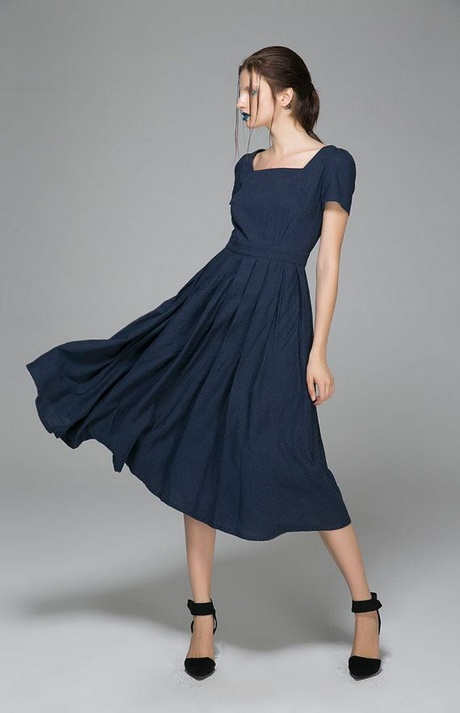 Dunkelblaue kurze kleider