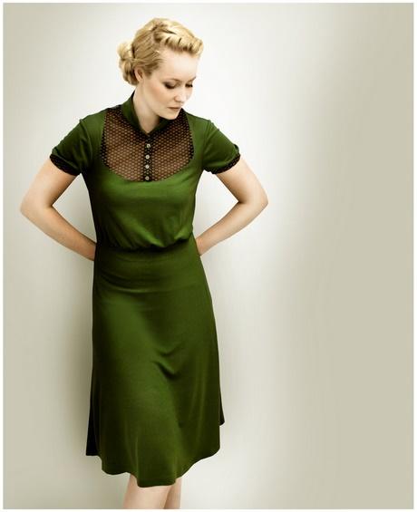 Kleid knielang grün
