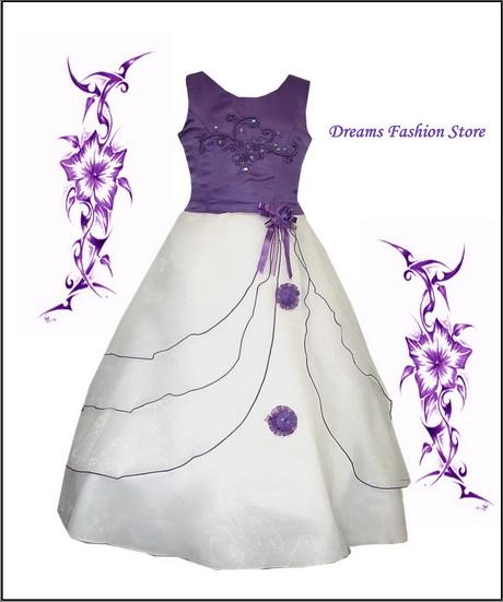 Blumenkinder kleider lila