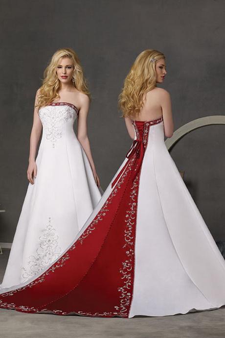 Brautkleider rot weiss